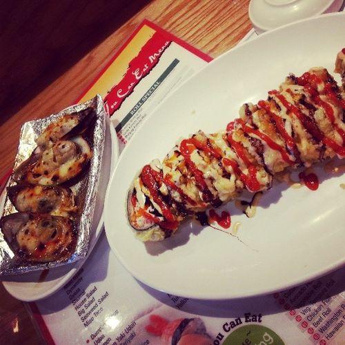 SUSHI nd MUSCLES !! NummyYummy SeafoodLover Mydrug SpringBreak