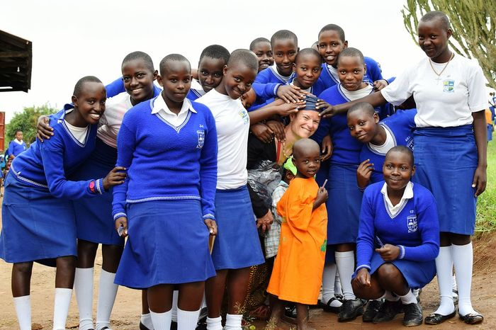 Rwebigumia Uganda Girls School Woman Celebration Event People Student Village Smile Teamwork Portrait Togetherness Group Of People Tradition Friendship This Is My Skin