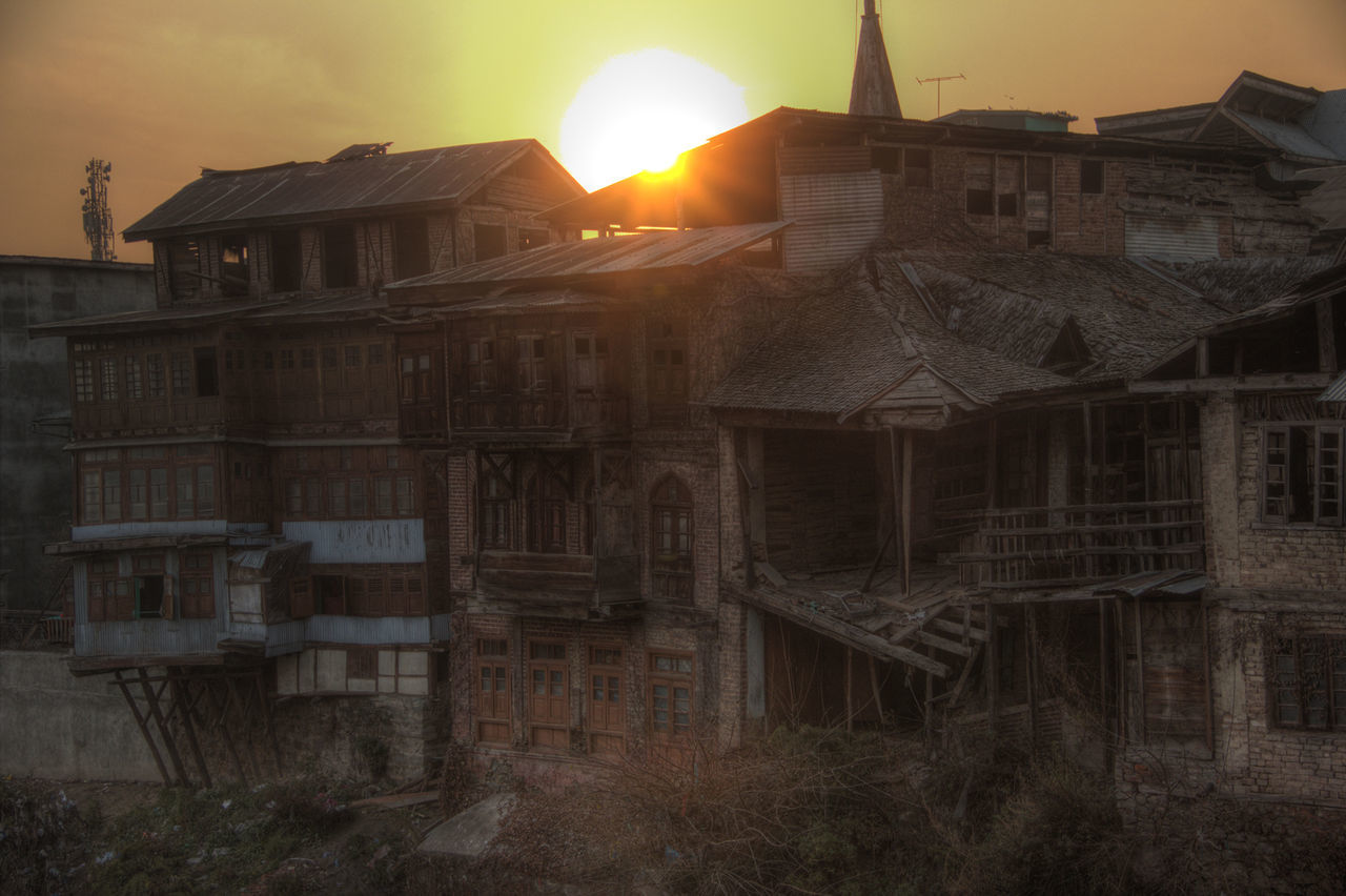 sun, architecture, building exterior, sunset, built structure, sky, no people, outdoors, sunlight, nature, day