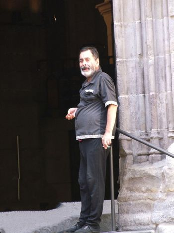 Begging at Entrance of Iglesia de Santa Maria del Mar Adult Barcelona Begging For Money Church City Composition Full Frame Full Length Looking At Camera Mature Adult No Incidental People One Man Only One Mature Man Only One Person Outdoor Photography Place Of Worship Portrait Real Person Spaın Sunlight