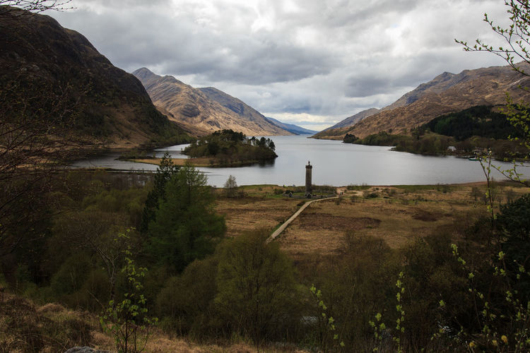 Glenfinnan monument Beauty In Nature Cloud - Sky Day Glenfinnen Grass Lake Landscape Mountain Mountain Range Nature No People Outdoors Scenics Sky Tranquil Scene Tranquility Tree Water