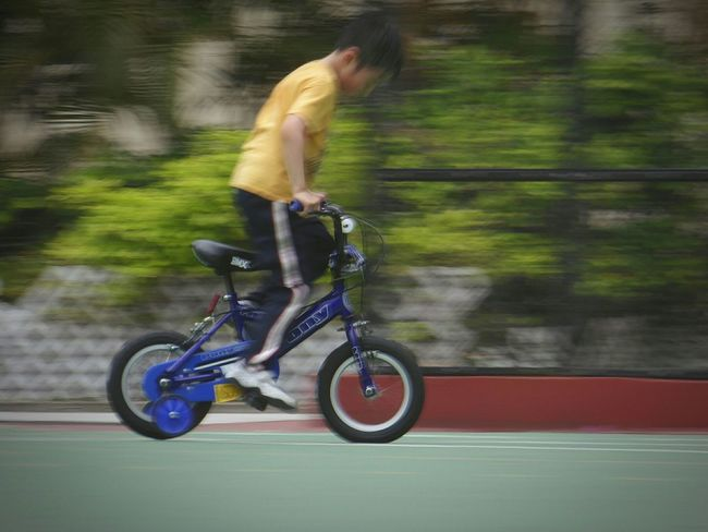 Kid On A Bike Bicycle Sportsground