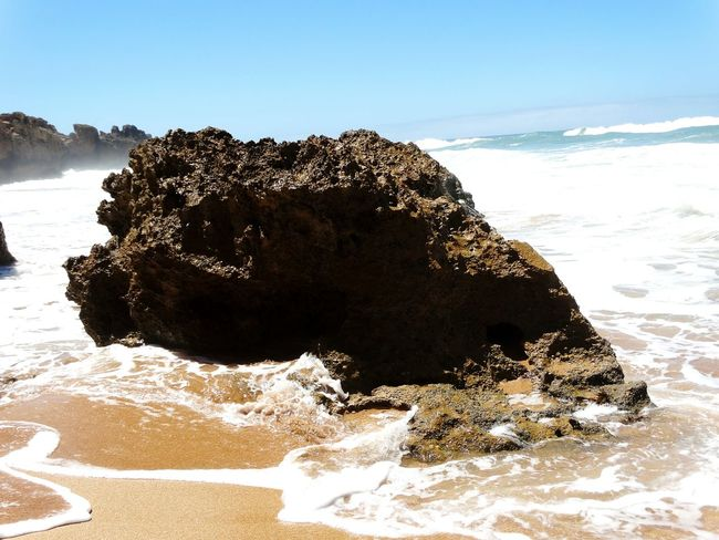Rocks Rock Rock Formation Oualidia Morocco Africa Beach Shore Water Rocks And Water Waves Wave Nature Nature_collection Fine Art Photography Close-up Summer Ocean View Ocean Eyem Gallery Nature Photography Blue Water Foam Nature_perfection Naturephotography