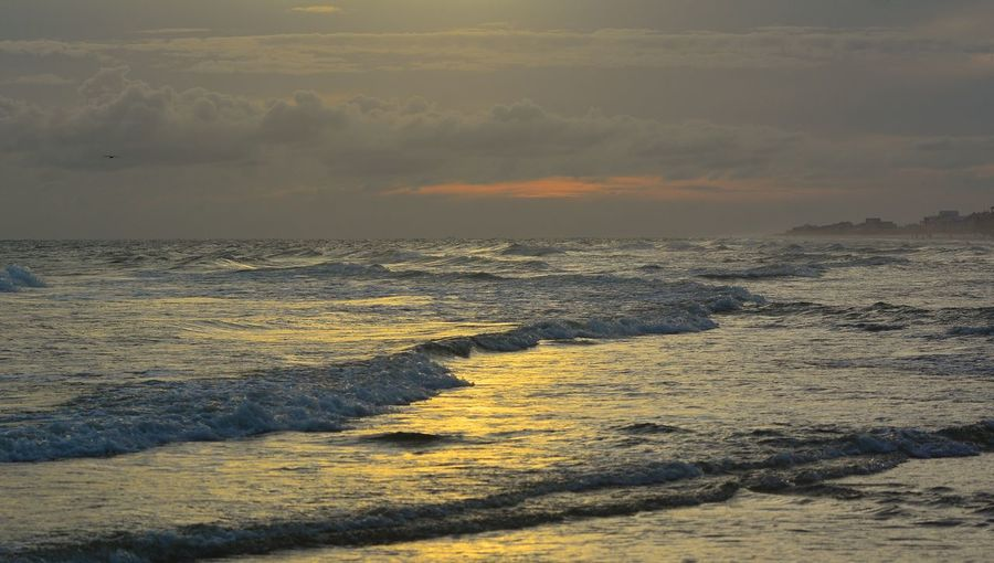 I love the sea, Gulfshores, Alabama Sea Beauty In Nature Nature Scenics Wave Sunset Outdoors Power In Nature Beach