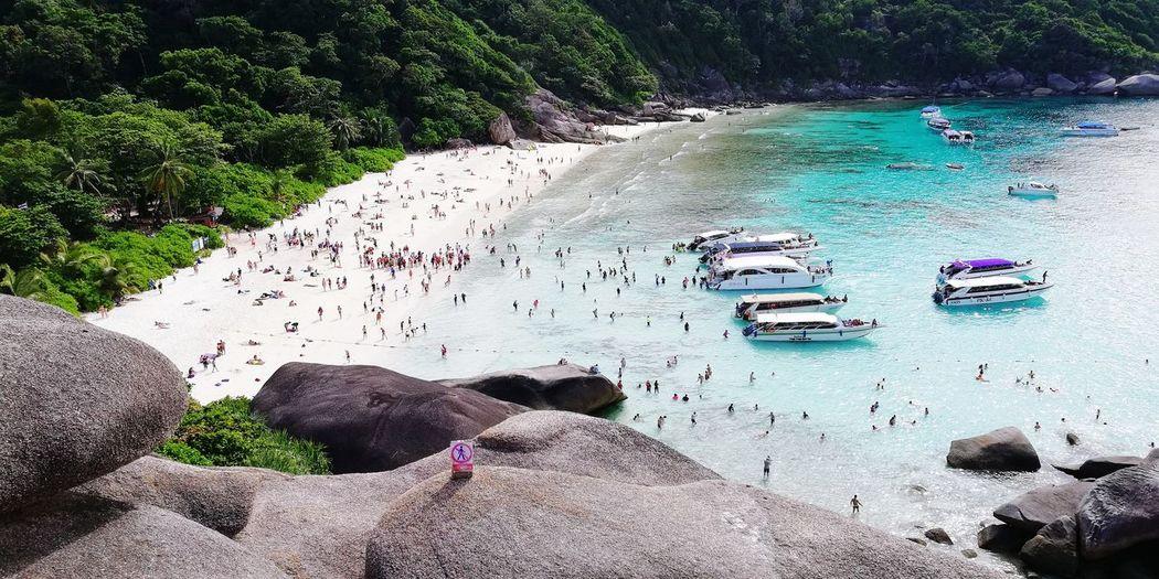 EyeEmNewHere Huawei Huaweiphotography Thailand Similan Similan Island, Thailand Island Paradise Andaman Sea Andaman Water Beach Sand High Angle View Sea Sky Sandy Beach Ocean Summer Exploratorium