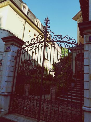 Near Home Gate Wrought Iron History Architecture Protection Outdoors Museum Day Building Exterior No People Travel Destinations Cast Iron Sky City