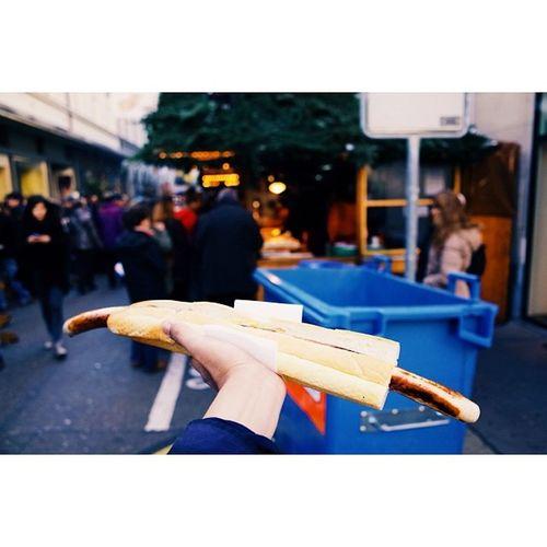Half-metre wurst, Christmas markets, Basel. Travel Travelphotography Christmasmarkets Vscocam