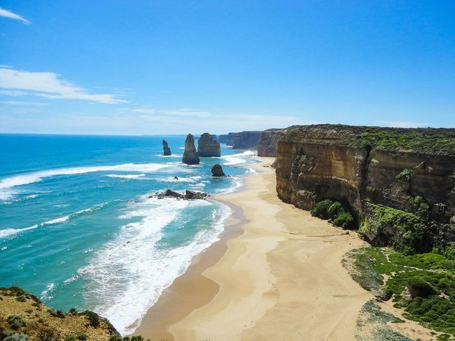 Beach Sea Sand Sunny Vacations Water Sky Clear Sky Nature Travel Destinations Greatoceanroad Travel Photography Melbourne