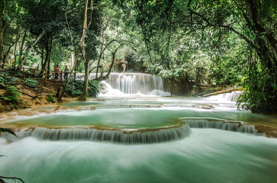 Huang Si waterfall, Laos ASIA Azzure Window Best EyeEm Shot EyeEmNewHere Blue Blue Water Eyem Best Shots Flowing Water Green Water Laos Luang Prabang Motion Nature Outdoors Scenics Travel Destinations Water Waterfall Waterfalls EyeEm New Here Perspectives On Nature