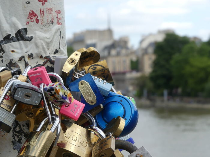Under The Bridge Attached Safe Security Love Lock Hope EyeEm Best Shots Lock Locked Keyhole