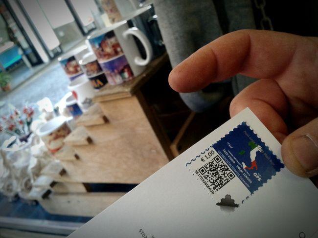 EyeEm Italy Postcards From Italy Francobolli Tazze Mano Cartolina