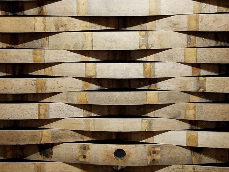Textured  Winery Wood - Material Wine Barrels Wood Slats Pattern Timber