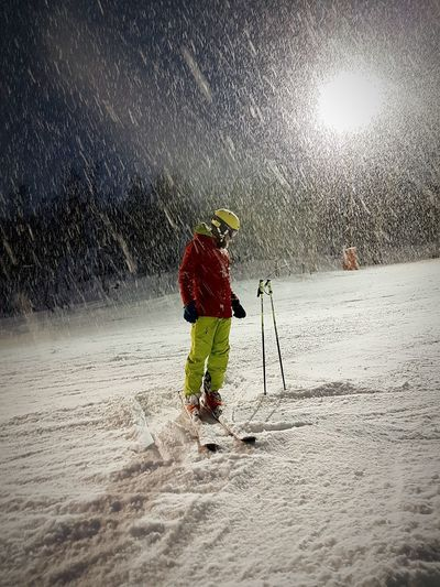 Snow Storm Ski Slope Night Ski Water Sport Sky Snow Covered Snow Weather Frozen Winter Snowfall EyeEmNewHere