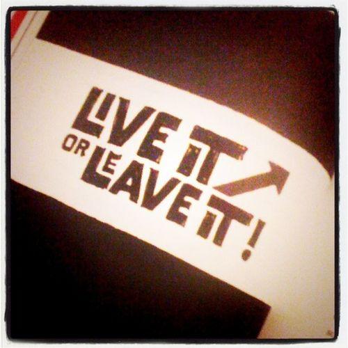 Live it or leave it. #nachtlektüre #rework