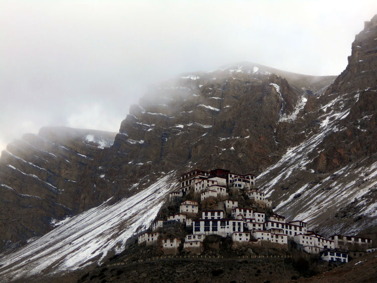 Key Monastery Travel Destinations Snow Built Structure Outdoors Spiti Valley.... Himachal Pradesh, India Spiti Valley India India Landscape Snow