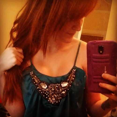Mirror selfie Redhairdontcare Longhairdontcare Gingerprobz