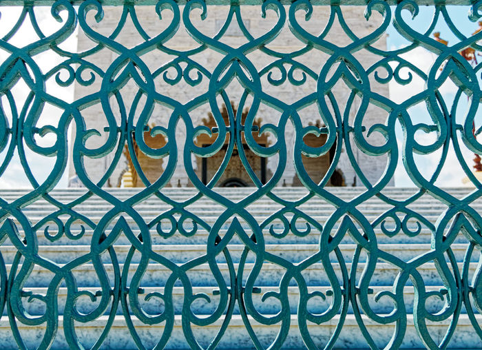 Pattern Full Frame Backgrounds Metal Design No People Close-up Shape Art And Craft Indoors  Creativity Wrought Iron Architecture Built Structure Grid Circle Fence Day Geometric Shape Barrier Ornate