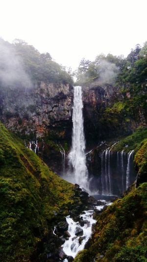 Waterfall Water Nature Outdoors Mountain Rain Rainfall Rainy Day Kegon Water Fall Activity Hiking Green Japan Forest Autumn Leaves Autumn Colors Fog Foggy Day Countryside Autumn