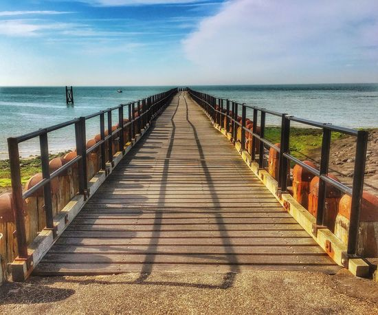 Sea Horizon Over Water Water Railing Sky Outdoors Pier The Way Forward Zeeland❤️ Netherlands Westkapelle -Netherlands Westkapelle Beauty In Nature