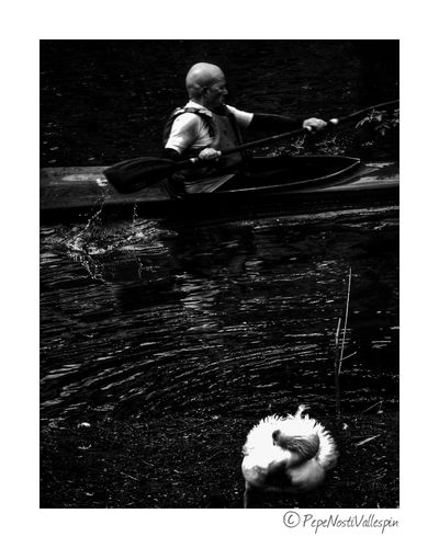 Canoe Kayak Outdoors Black And White Collection  Outdoor Photography Pola De Siero Asturias , Spain