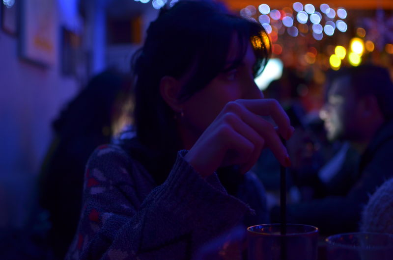Night Focus On Foreground Adult Portrait Enjoyment Young Adult Togetherness Nightlife Drinking My Best Photo