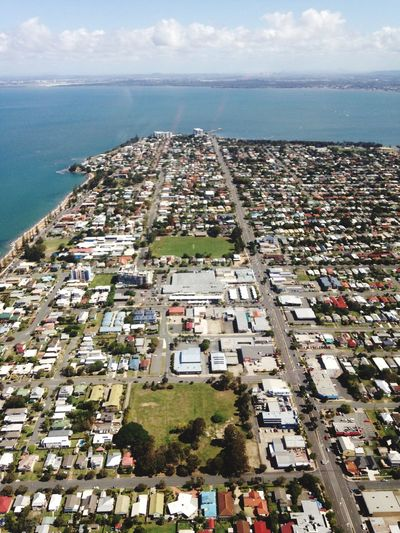 The Changing City Aerial Shot Redcliffeseaside Ocean View