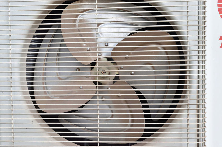 Outdoor Unit Rust Airconditioner Airconditioning Day Fan Metal No People
