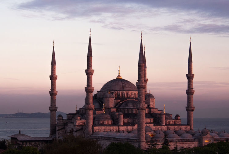View Of Blue Mosque At Sunset