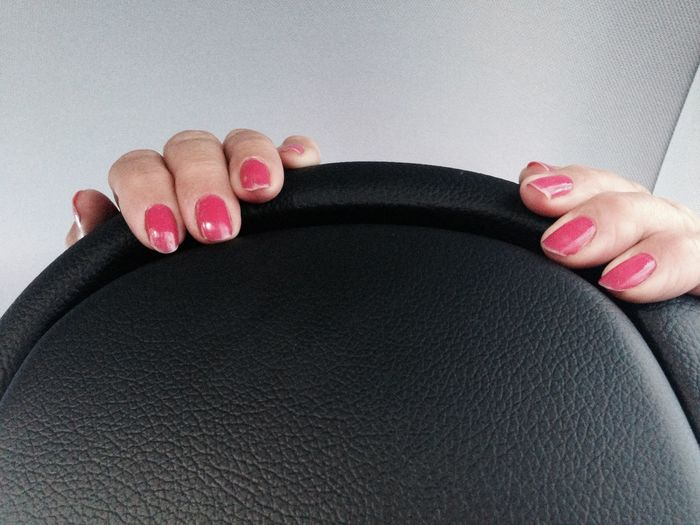 Detail shot of women driving car