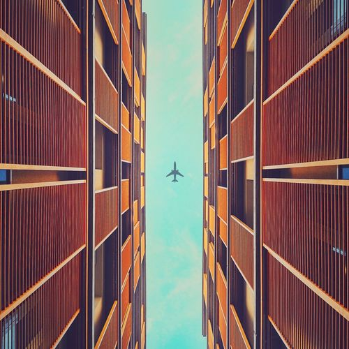 • weekly boing-737 • Plane Lookingup Architecture Structures Urban Geometry AMPt_community Architectureporn Building Urban