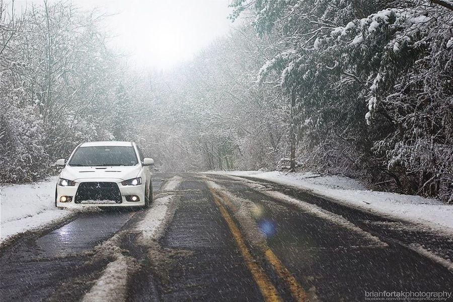 Evolution  Mitsubishi Special Snow ❄ Snow Fashion White Mountains USA Style