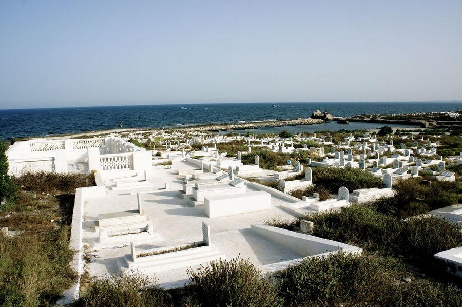 Cimitery Clear Sky Day Mahdia/Tunisia Non-urban Scene Sea Sea And Sky Tranquil Scene Tranquility Travel Photography Travelphotography Tunisia