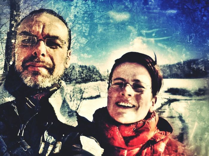 Walking Around Mobile Photography Portrait Winter Selfportrait Playing With Filters