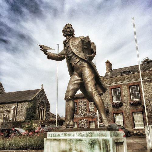 Thomaspayne Statue Human Representation Thetford