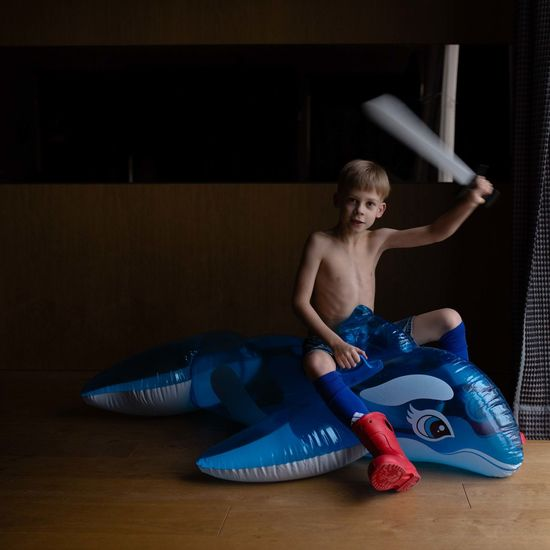 Children EyeEm Best Shots EyeEm Gallery Red The Week On EyeEm Blue Boot Boy Child Childhood Day Dolphin Full Length Holding Indoors  One Person People Real People Sword Viking Young Adult