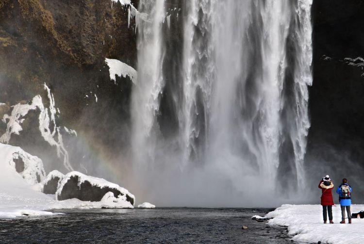 Panoramic view of waterfall