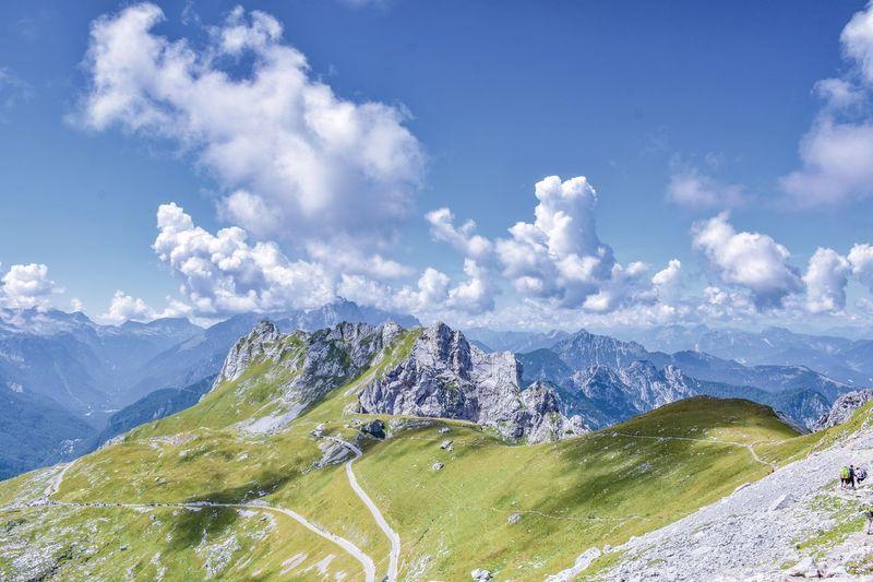 Mangartsko sedlo Mangart Slovenia Julian Alps Alpine Roads Road Alps Nature