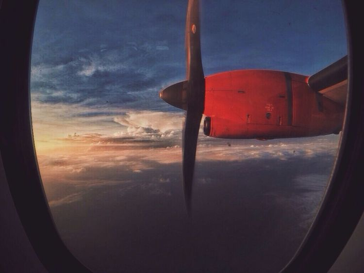 Firefly Propeller Aeroplane Window Airplane Window Seat Airplane Propeller Clouds On Plane Clouds And Sky Dusk Flight