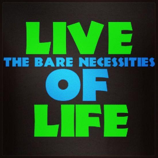 Livelife Barenessities Junglebook Baloo simple motto philosophy custom design shirt apparel online business website entrepreneur jimbosports established 2005