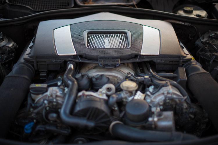 Close-up of car engine