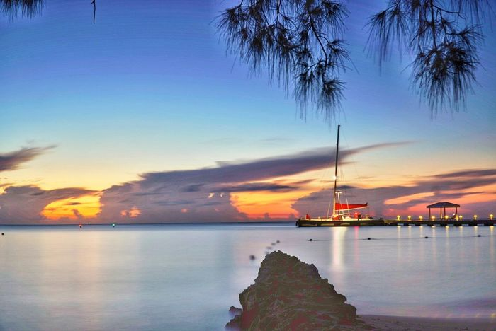 Beauty In Nature Sunset Rumpoint Grandcayman