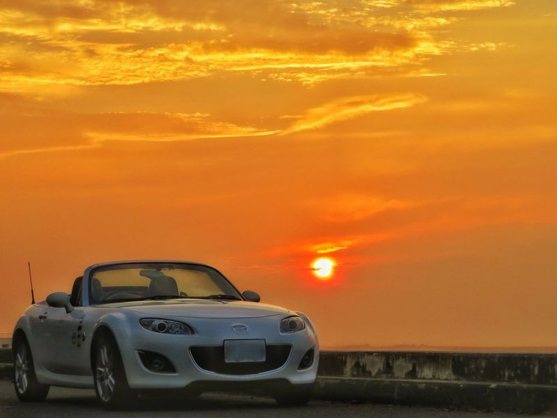 空 太陽 マツダ ロードスター Sunrise Morning Morning Sun Orange Color Beach Water Mazda MX-5 Mx5 Miata EyeEm Car Sunset Motorsport Racecar Gold Colored Sky Nature Cloud - Sky EyeEm Nature Lover Dramatic Sky EyeEm Daily Nature