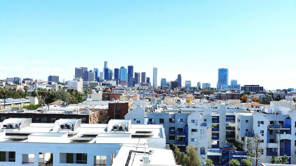 Skyline Los Ángeles City Clear Day Urban Downtown Metropolitan From The Rooftop My Best Photo 2015 Market Bestsellers September 2016 Bestsellers