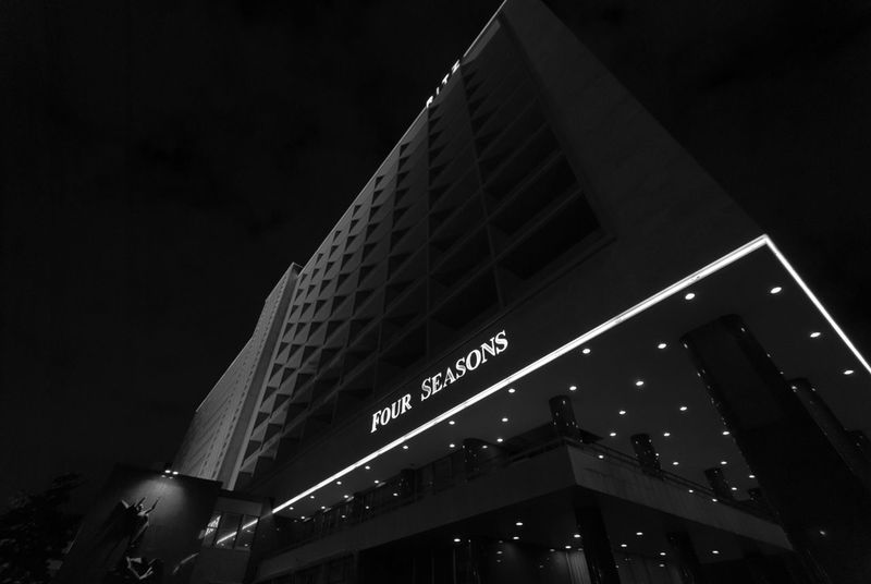 Architecture Building City Dark Hotel Illuminated Low Angle View Night No People Ritz Tall Tall - High