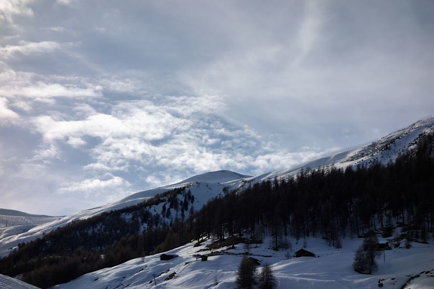 Winter Cold Temperature Snow Cloud - Sky Sky Scenics - Nature Mountain Beauty In Nature Tranquil Scene Snowcapped Mountain Tranquility No People Non-urban Scene Environment Mountain Range Day Nature Tree White Color Outdoors Mountain Peak