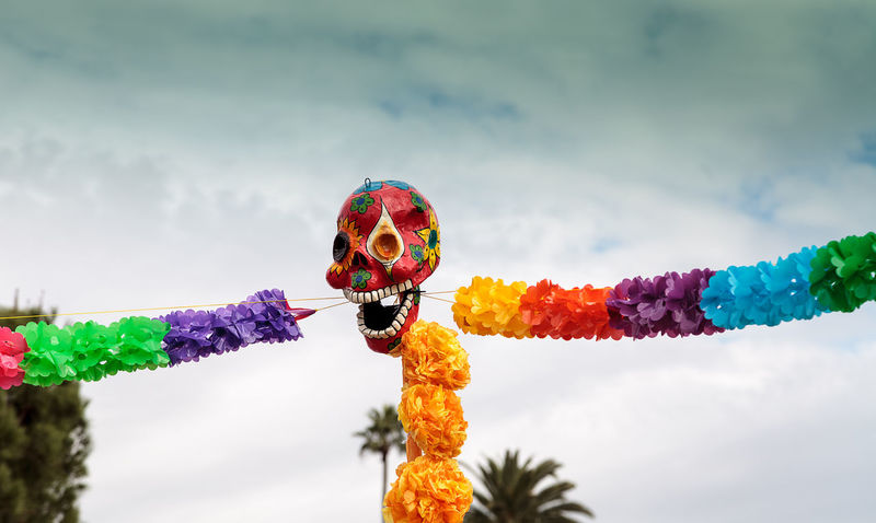 Flower and skeleton alter at Dia de los Muertos, Day of the dead. All Saints Day Alter Celebration Day Day Of The Dead Decor Decoration Dia De Los Muertos Flower Halloween Outdoors Skull