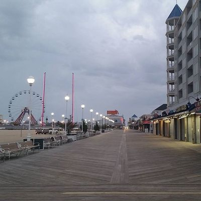 Quiet on the boards as clouds rule the skies.... Oceancitycool OceanCity Maryland Ocmd