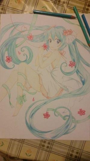 Fan Art Manga~ In Vendita Fan Art Matite Pastelli Mikuhatsune Vocaloid
