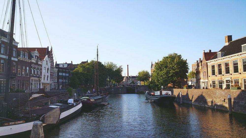 Taking Photos Sunny Day Architecture Urban Boats Harbour Dutch Canals Historical Sights Historisch Delfshaven Rotterdam