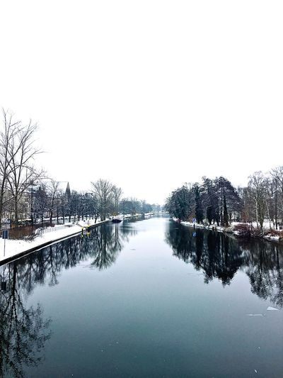 Reflection Nature Winter Berlin Snow Outdoors Beauty In Nature Water No People River River View